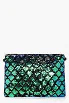 Boohoo Lara Diamond Pattern Sequin Clutch Bag