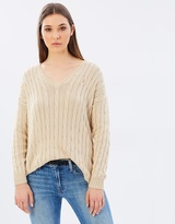 Polo Ralph Lauren Cable Knit Side Slit Sweater