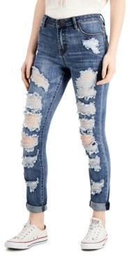 Almost Famous Juniors' Distressed Slim-Fit Jeans