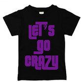 Urban Smalls Black & Purple 'Let's Go Crazy' Tee - Toddler & Boys