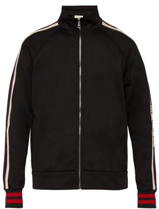 Gucci Logo-trim Zip-through Track Jacket - Mens - Black