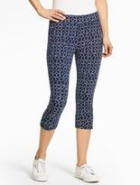 Talbots Yoga Capri - Dotted-Flower
