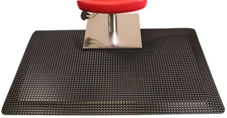 Rhino Mats Reflex Salon Mat with Square Base Black with Square Cut Out