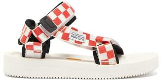 Suicoke Depa-v2 Checkerboard Sandals - Womens - Red White