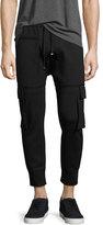 Helmut Lang Skinny Cargo Jogger Pants, Black