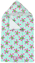 Princess Linens Blue Turle Personalized Hooded Towel