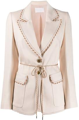 Peter Pilotto single-breasted cord detail blazer