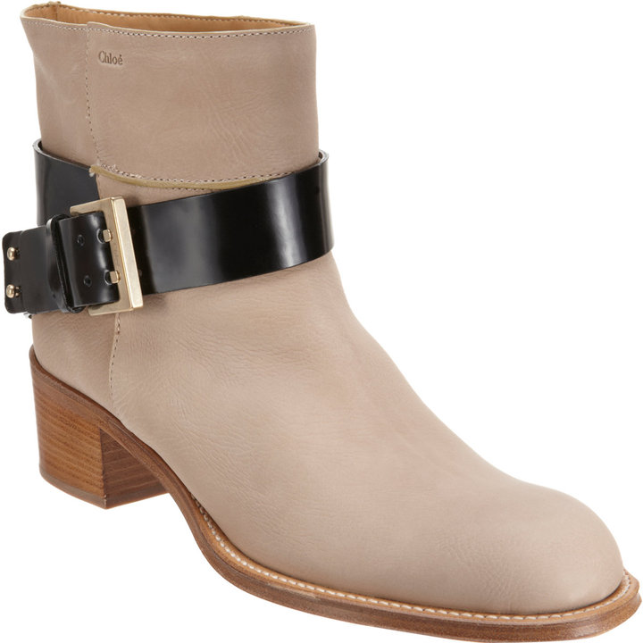 Chloé Buckle Strap Ankle Boot
