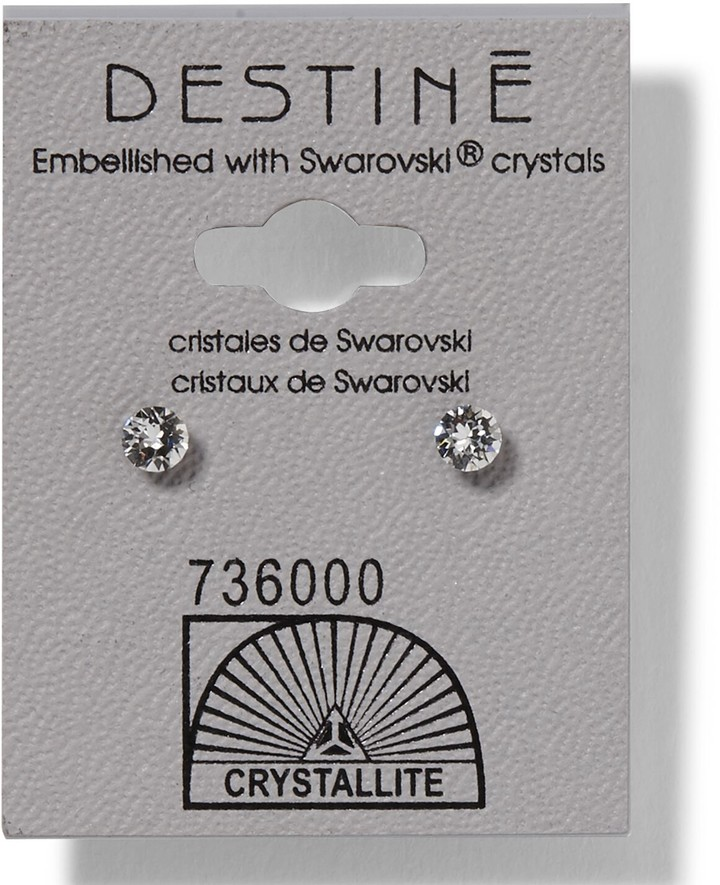 Crystallite Destine Clear Diamond Cut Earrings