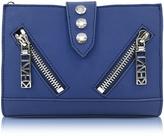 Kenzo Dark Blue Gommato Leather Kalifornia Wallet on Chain
