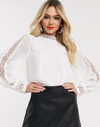 Forever New cut out top in white