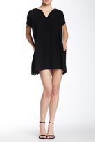 Lush Short Sleeve Split Neck Floral Print Dress