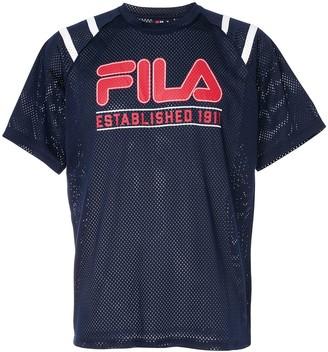 Fila logo printed mesh T-shirt