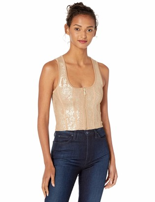 GUESS Women's Sleeveless Snake Foil Mirage Top