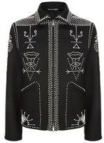 Valentino Beaded Wool Zip Jacket