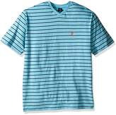 U.S. Polo Assn. Men's Horizontal Pinstripe V-Neck T-Shirt