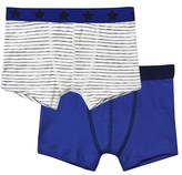 Petit Bateau Pack of 2 Blue and White Stripe Boxers