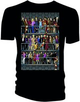 Doctor Who Mens All Doctors and Companions Colour T-Shirt