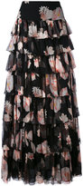 Redemption - floral print tiered maxi skirt - women - Silk - 40