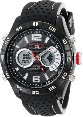 U.S. Polo Assn. Sport Men's US9487 Analog-Digital Display Analog Quartz Black Watch
