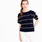 J.Crew Ruffle boatneck sweater