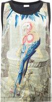 Dries Van Noten parrot print tank top
