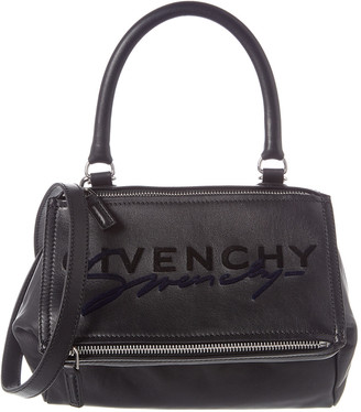 Givenchy Pandora Small Embroidered Leather Shoulder Bag