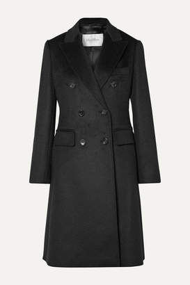 Max Mara Rigel Double-breasted Camel Hair Coat - Black