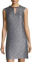 Donna Ricco Beaded-Neck Sleeveless Dress