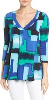 Chaus Fragment Abstract V-Neck Top