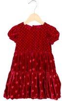 MonnaLisa Girls' Velvet Short Sleeve Dress w/ Tags