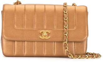 Chanel Pre Owned 1992 vertical quilt CC shoulder bag