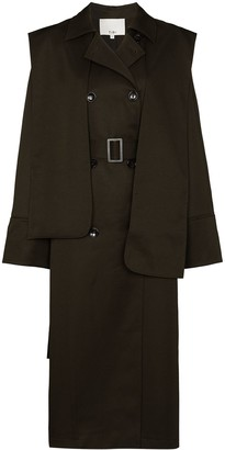 Tibi The Flap midi trench coat