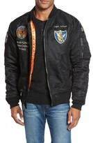 Schott NYC Men's Highly Decorated Embroidered Flight Jacket