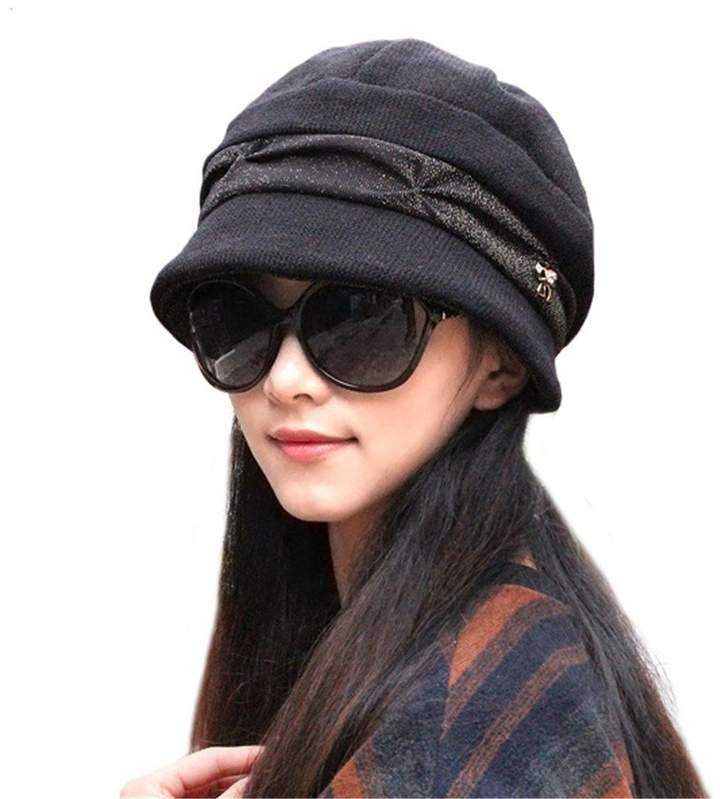 64a0f08b Black Short Brim Hat - ShopStyle Canada