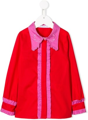 Vivetta Kids Embroidered Collar Blouse