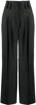 Racil Pleat Detail Wide-Leg Trousers