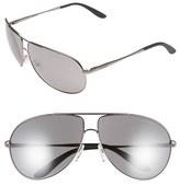 Men's Carrera Eyewear 64Mm Aviator Sunglasses - Dark Ruthenium/ Black Mirror