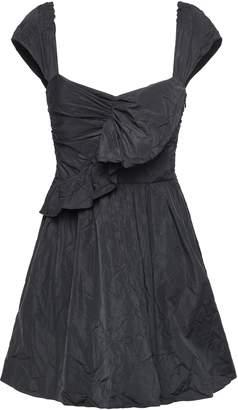 RED Valentino Ruffled Crinkled-taffeta Mini Dress