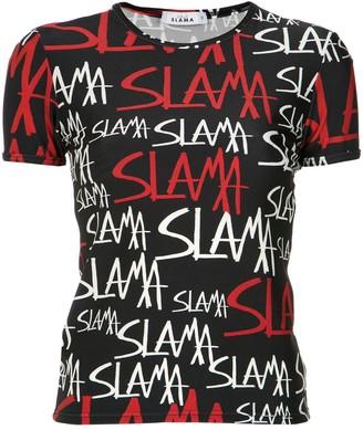 AMIR SLAMA logo print T-shirt