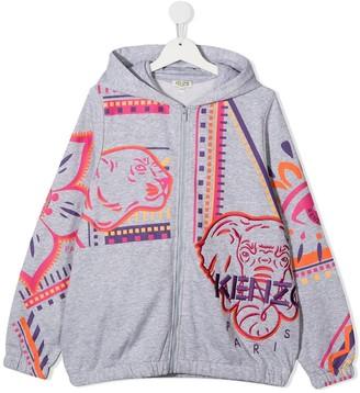 Kenzo Kids Logo Print Hoodie
