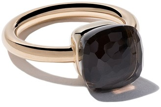 Pomellato 18kt rose & white gold Nudo smoky quartz ring