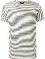 A.P.C. striped T-shirt - men - Cotton/Linen/Flax/Polyester/Viscose - S