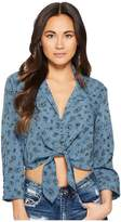 Amuse Society Lets Get Knotty Woven Top Women's Clothing