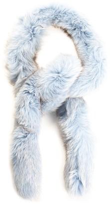 Christian Dior Limited Edition Pale Blue Fox Fur Scarf, Nwt