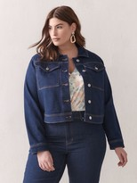 Addition Elle Boxy-Fit Denim Jacket
