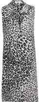 Equipment Mina Leopard-Print Washed-Silk Mini Dress