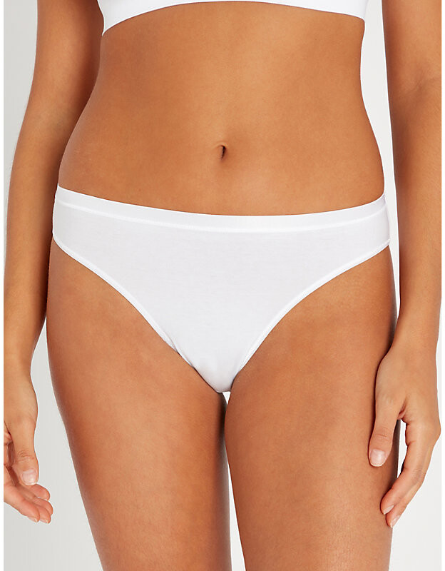 Thumbnail for your product : Hanro Seamless Midi stretch-cotton briefs