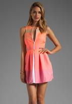 Camilla And Marc Antoinette Stripe Dress in Pink Stripe/White