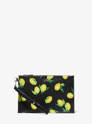 Michael Kors Lemon Leather Wristlet